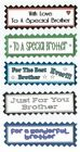 5 BROTHER, BRO IN LAW or STEP BROTHER Greeting Card Craft Sentiment Banners