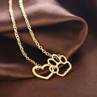 Heartbeat Pet Dog Cat Paw Memorial Necklace Earring Pendant Earring Jewelry Gift