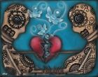 $29.95 in - Set Them Free by Abril Andrade Sugar Skull Butterflies Death Canvas Art Print