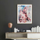 Abstract Art Painting Oil Print Painting on Canvas Poster Girl and Wolf