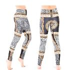 New Women's Ladies High Waist Skinny Slim Stretch Scarf Print Leggings UK 8-14