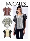 McCall's M7361 Sewing Pattern Loose Fitting Pullover Top Misses 6-14 ONLY  OOP