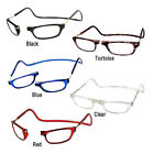 CliC Magnetic Reading Glasses; Hangs around neck, snaps closed, Adjustable