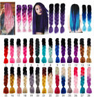 Real Jumbo Braiding Hair Extension Ombre Kanekalon Twist Braids Any Colors lk