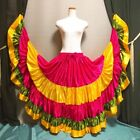 Mix Satin 5 Tiered Gypsy Skirt Belly Dance Jupe 25 Yd Flamenco Frill Ruffle DYO