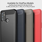OnePlus 6T 6 5T 5 Carbon Fibre Brushed Gel Tough Case Cover  <br/> UK STOCK - DELIVERY BY ROYAL MAIL
