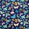 Fat Quarter 100% Cotton Fabric Nutex Vibrant Fancy Navy BUTTERFLIES Insects