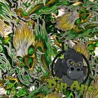 GREEN METALLIC DRAGONS HYDROGRAPHIC WATER TRANSFER HYDRO FILM DIP APE