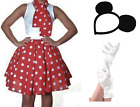 ADULTS MINNIE MOUSE FANCY DRESS OUTFIT SET PARTY BOOK WEEK HEN WALT COSTUME MINI