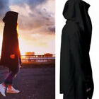 US Punk Men's Cardigan Hooded Long Cloak Cape Coat Loose Casual Slim Fit Jackets
