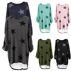 Women Casual Loose Shirt Dress Star Printed Dresses Baggy Tunic Jumper Plus Size