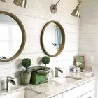 Peel and Stick Contemporary Farmhouse Shiplap Reclaimed Wood Plank Wallpaper