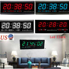 LED Digital Large Jumbo Wall Clock with Calendar Temperature Living Room Bedroom