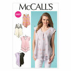 M7125 McCall's OOP Pattern EASY Misses 4-26 Loose Fit Draping Pullover Tops