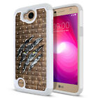 "For LG X Power 2 LV7 5.5"" / M327 / SP320 Hybrid Sparkle Bling Crystal Case Cover"