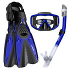 Diving Equipment Snorkeling Set Scuba Gear Kit Dive Mask Goggles Tube Long Fins