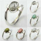 Multiple Choices ! 925 Sterling Silver BLACK RUTILE & Other Gems FASHION Ring