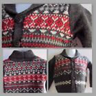 New Baby Boy Soft Long Sleeve Red Gray Button-up Cardigan Sweater