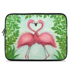 Zipper Sleeve Bag Cover - Flamingo Love - Fits Most Laptops + MacBooks