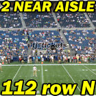 2 NEAR AISLE: Kansas City Chiefs @ Seattle Seahawks NFL FOOTBALL 12/23 112rowN on eBay