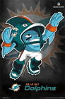 129766 Miami Dolphins Rusher Logo NFL Decor WALL PRINT POSTER US