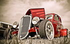 127329 Old Classic Hot Rod Decor WALL PRINT POSTER CA