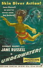 133407 Howard Hughes Underwater! Jane Russell Decor WALL PRINT POSTER UK