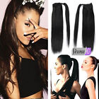 """16""""-24"""" Thick Halo Ponytail Easy Clip -In 100% Human Hair Extensions Many Colors"""