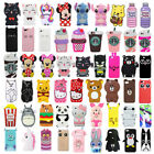 For iPhone 4 4S 5 5S Case Cover 3D Cute Cartoon Animals Soft