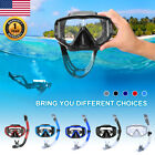 ENKEEO Snorkel Set of 2 with Diving Face Mask 180°Wide View Dry Breath Tube USA