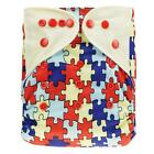 Baby Nappy Washable Cloth Diaper Cover Changing Adjustable Size 0-3 Year