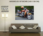 126505ustom flame Painting Motorcycle Decor WALL PRINT POSTER DE