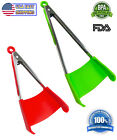 2-in-1 Spatula Tongs Non-stick Heat Resistant Kitchen BBQ Silicone Cooking Tool