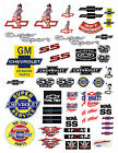 1:18 CHEVY LARGE DECALS FOR DIECASt &MODEL CAR DIORAMAS CHEVROLET