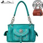 Montana West Concho Collection Concealed Carry Satchel Bag/ purse with wallet se