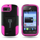 Dual Layer Hard Soft Hybrid Phone Cover Case for ZTE Fury / Valet / Director