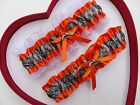 NEW Mossy Oak Camouflage Camo Orange White Wedding Garter Prom Gun Hunting Chick