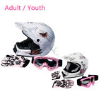 motorcycle helmets goggles - DOT Adult / Youth Dirt Bike ATV Motocross Helmet Goggles w/ Gloves Motorcycle
