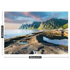 Non woven Wall Mural Photo Wallpaper Poster Picture Image Mountains Norwey