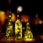 15/20x LED Cork Shaped String Fairy Night Light Wine Bottle Lamp With Battery CG