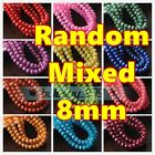 4mm 6mm 8mm 10mm Gold/Silver Foil Rondelle Faceted Glass DIY Loose Spacer Beads