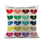 Happy Valentines Pillow Cases Linen Sofa Cushion Cover Home Decor Pillow Case