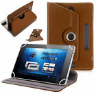 """Fire Alexa Amazon Universal """"SeVeN"""" 7 Inch Leather Stand & Rotate Tab Case Cover"""