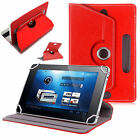 "Fire Alexa Amazon Universal ""SeVeN"" 7 Inch Leather Stand & Rotate Tab Case Cover"