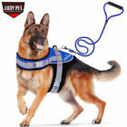Large Padded Dog Harness Training Vest w Leash Set Comfortable for Pitbull Husky