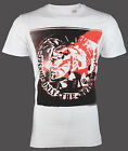 DIESEL Mens T-Shirt MOHICAN Mohawk WHITE Casual Designer Jeans $58 NWT image