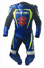 Suzuki GSXR Motorcycle Leather Suit Motorbike Sports Leather 1PC Suit Racing CE