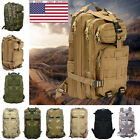 Outdoor US Camo Backpack Hiking Camping Bag Army Tactical Trekking Rucksack