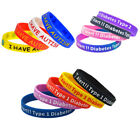 epilepsy color -  Silicone Alert Wristband Medical Alert Bracelet Emergency Diabetes Autism