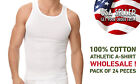 Men's Athletic A-shirt / Wife Beater / 100% Cotton WHOLESALE PRICE : PACK OF 24